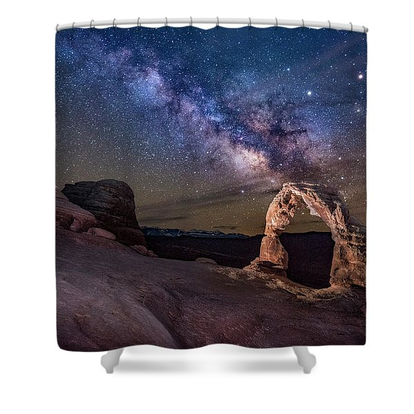 Milky Way And Delicate Arch Shower Curtain