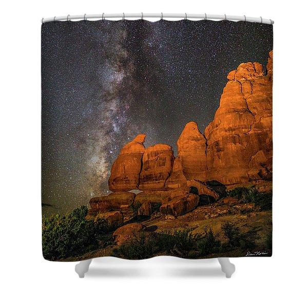 Milky Way And Navajo Rocks Shower Curtain