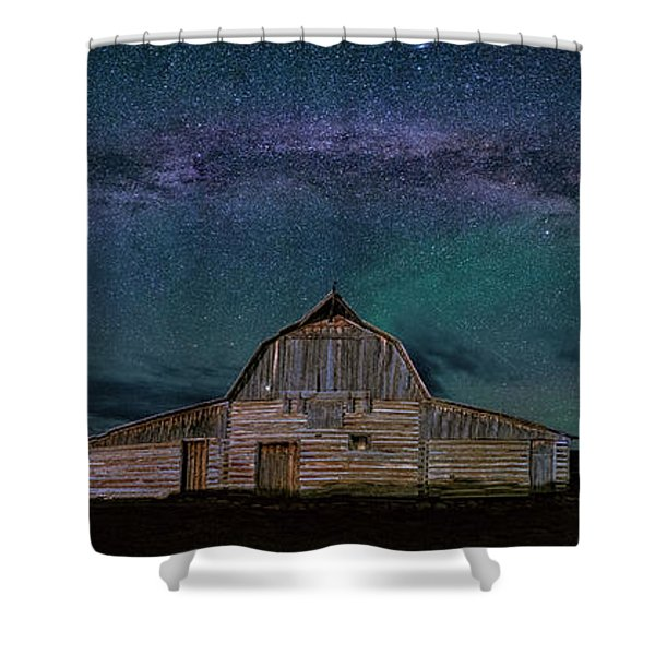 Milky Way Arch Over Moulton Barn Shower Curtain
