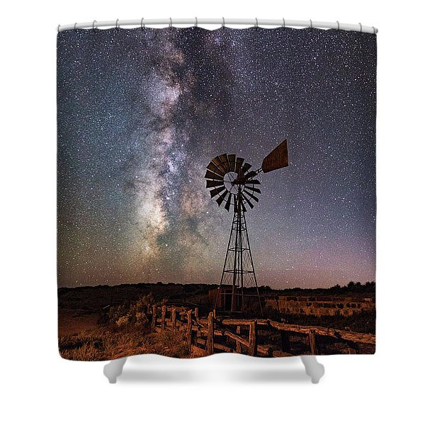 Milky Way At Dubinky Well Shower Curtain