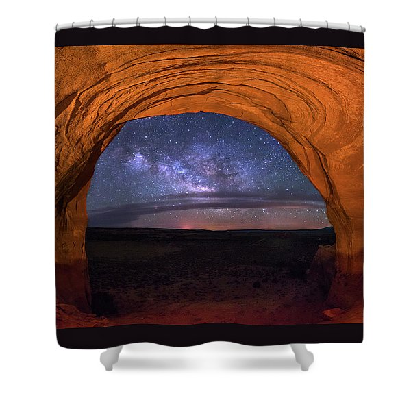 Milky Way At Looking Glass Rock Shower Curtain