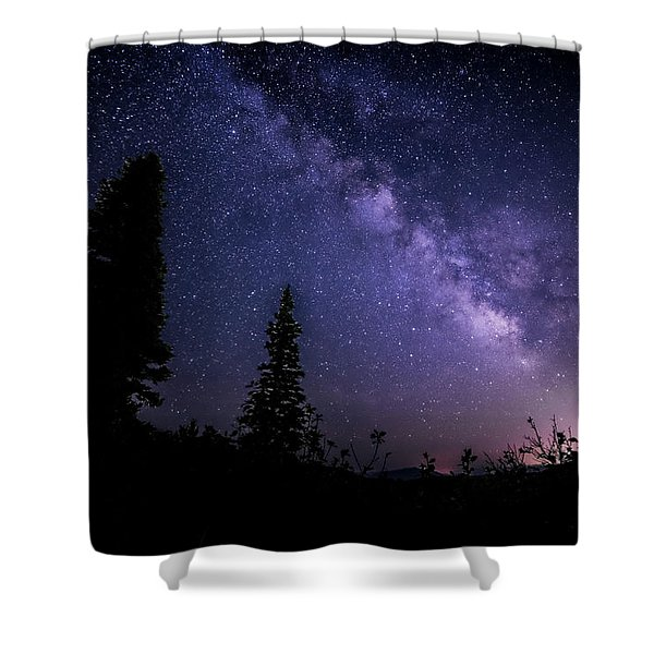 Milky Way At Powder Mountain Shower Curtain