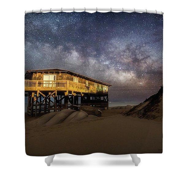 Milky Way Beach House Shower Curtain