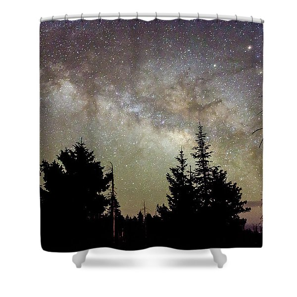 Milky Way From Mt. Graham Shower Curtain