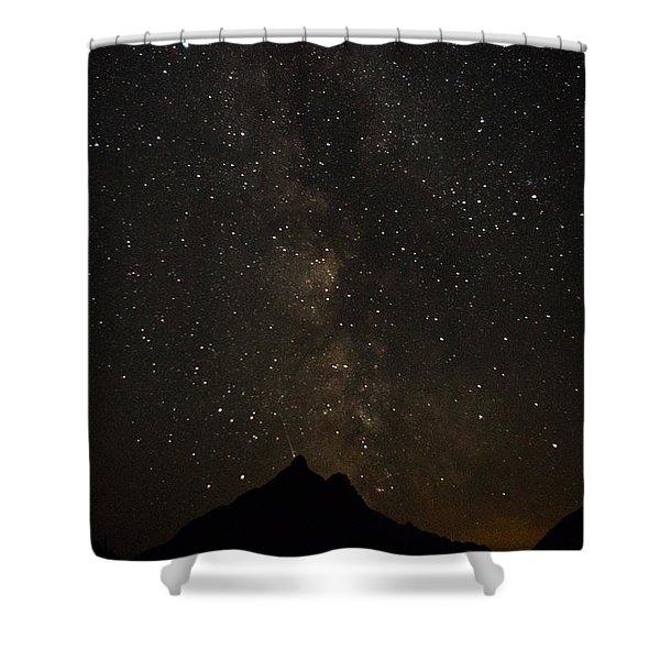 Milky Way, Glacier Nat'l Park Shower Curtain