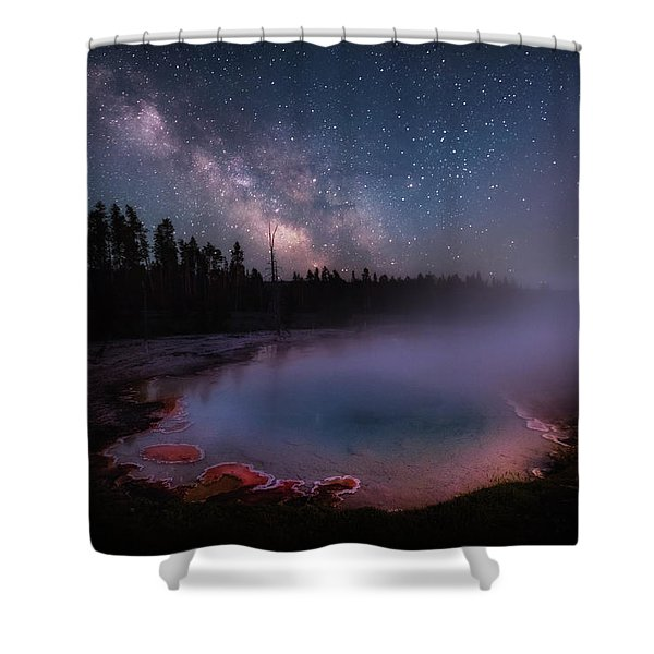 Milky Way In Yellowstone Shower Curtain