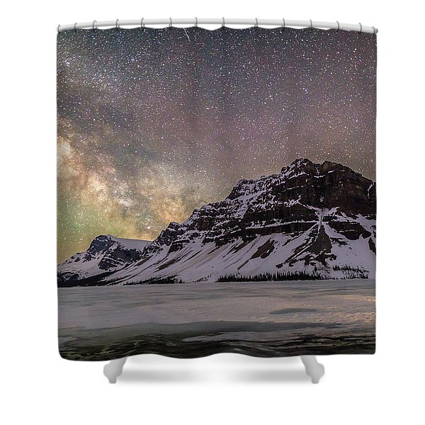 Milky Way Over Crowfoot Mountain Shower Curtain
