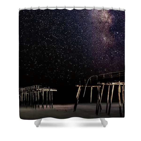 Milky Way Over Frisco Shower Curtain