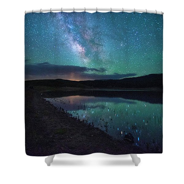 Milky Way Reflections Shower Curtain
