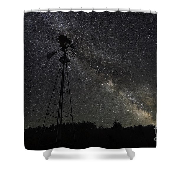 Milky Way Windmill  Shower Curtain