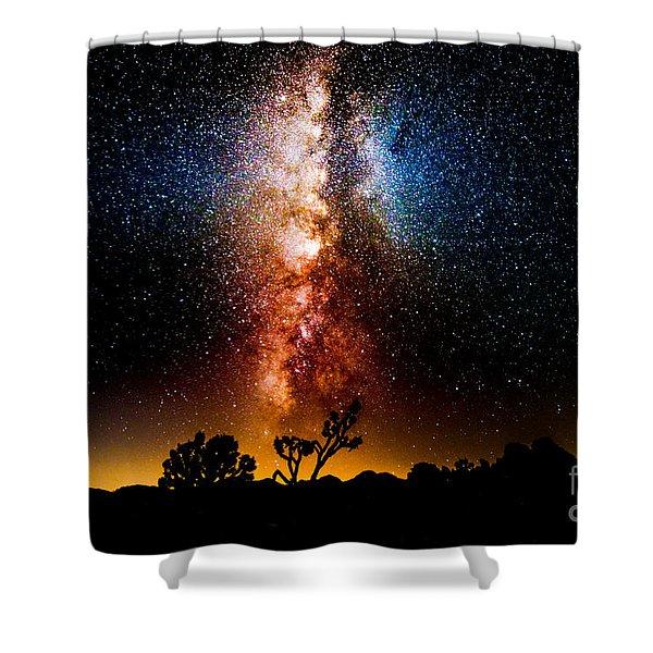 Milkyway Explosion Shower Curtain