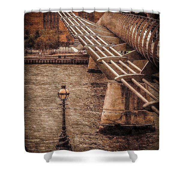London, England - Millennium Bridge Shower Curtain