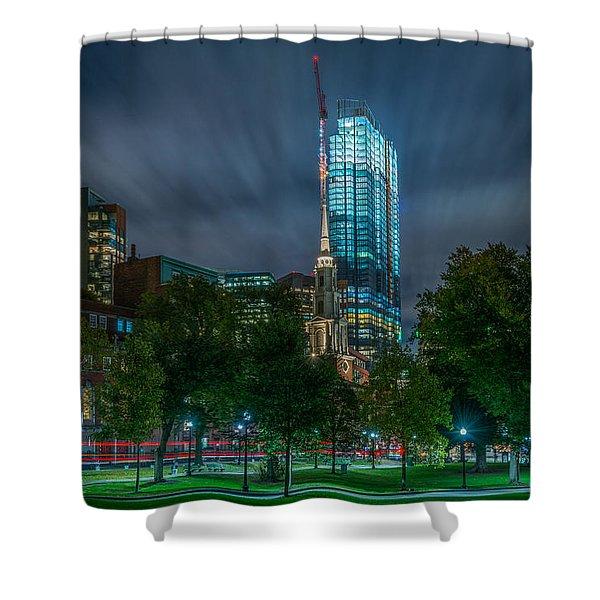 Millennium Construction Shower Curtain
