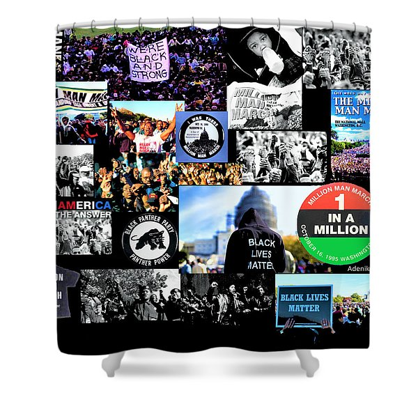 Million Man March Montage Shower Curtain