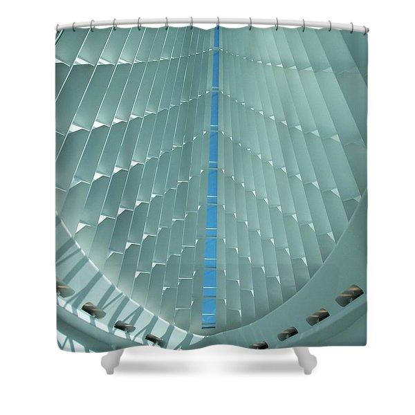Milwaukee Art Museum Interior Shower Curtain