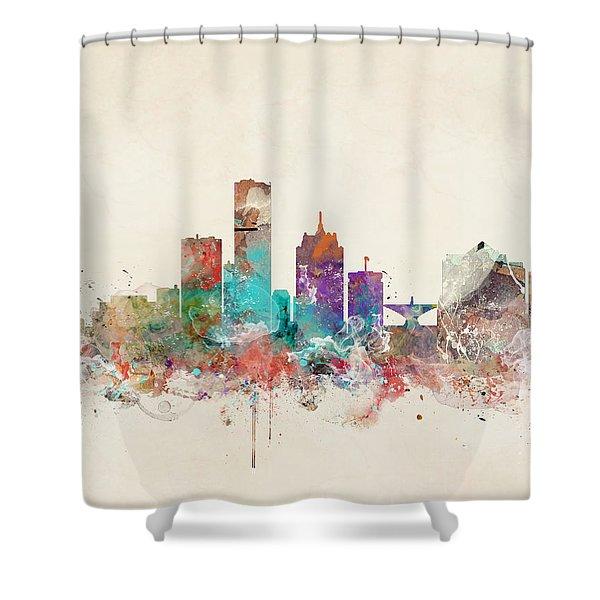 Milwaukee Wisconsin Skyline Shower Curtain