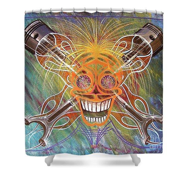 Mind Blown Motorhead  Shower Curtain