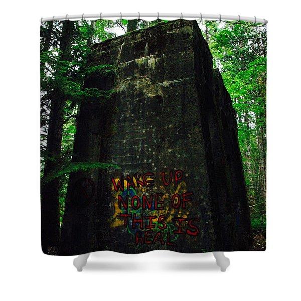 Mine 8 Matrix Shower Curtain