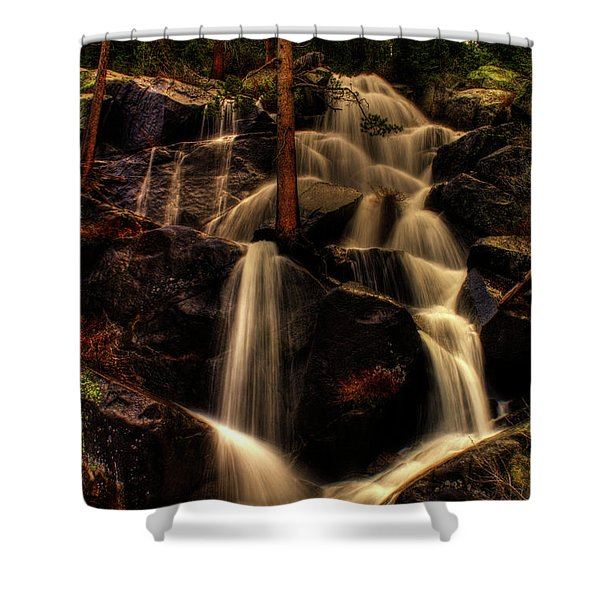 Quaking Aspen Falls Along Tioga Pass  Shower Curtain
