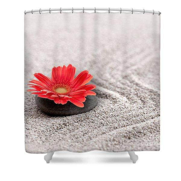 Mineral Flower Shower Curtain