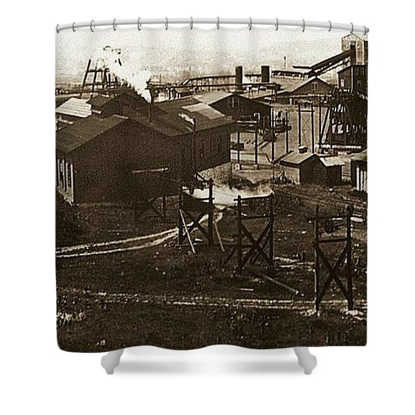 Mineral Springs Colliery Parsons Gravel Hill Scranton Patch Area Of Wilkes Barre Pa 1913 Shower Curtain