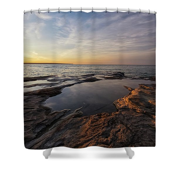 Shower Curtain featuring the photograph Miners Beach 2 by Heather Kenward