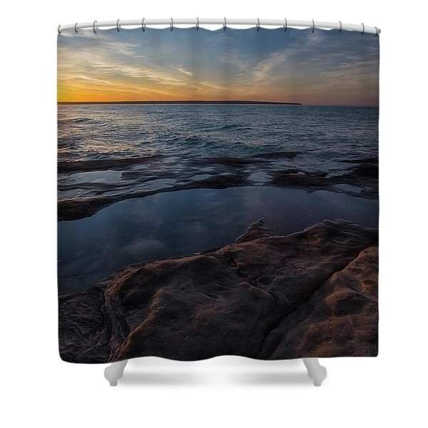 Shower Curtain featuring the photograph Miners Beach 3 by Heather Kenward