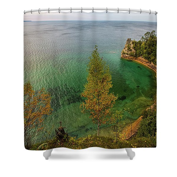 Shower Curtain featuring the photograph Miners Castle 2 by Heather Kenward