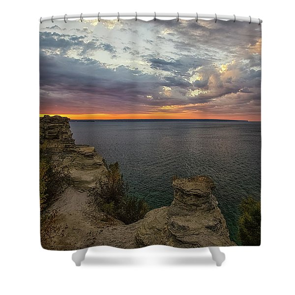 Shower Curtain featuring the photograph Miners Castle 3 by Heather Kenward