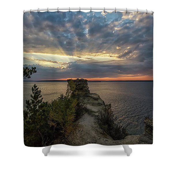 Shower Curtain featuring the photograph Miners Castle 4 by Heather Kenward
