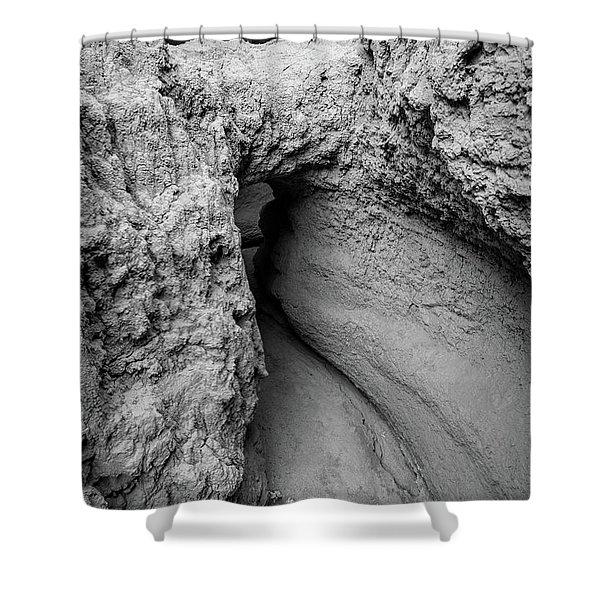 Mini Mud Cave Shower Curtain