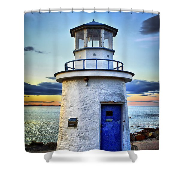 Miniature Lighthouse Shower Curtain