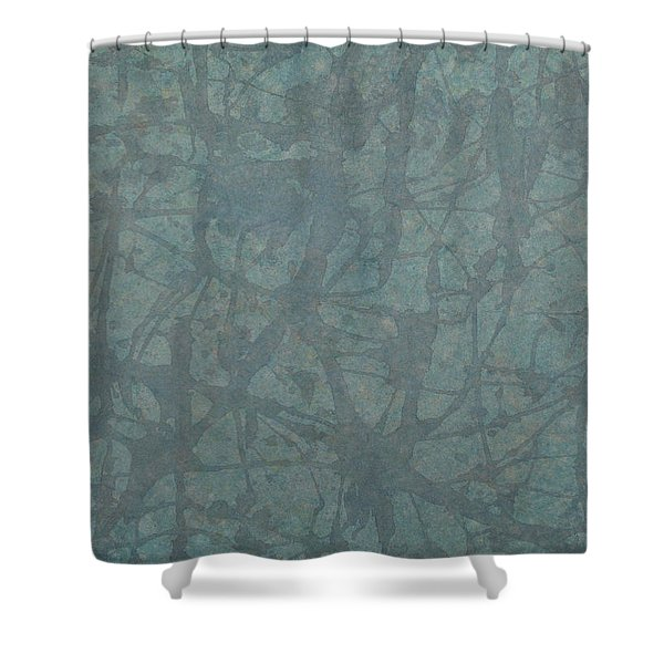 Minimal Number 3 Shower Curtain by James W Johnson
