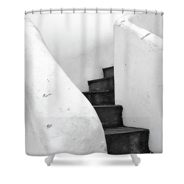 Minimal Staircase Shower Curtain