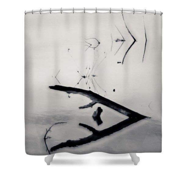 Minimalism  #plasticfantastic Shower Curtain
