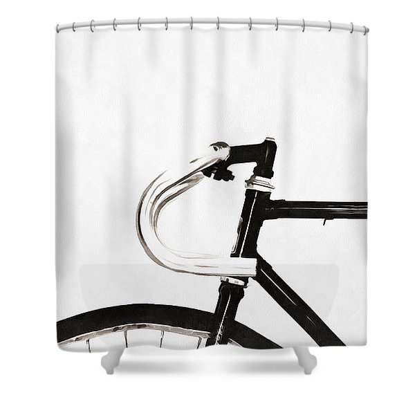 Minimalist Bicycle Painting Shower Curtain