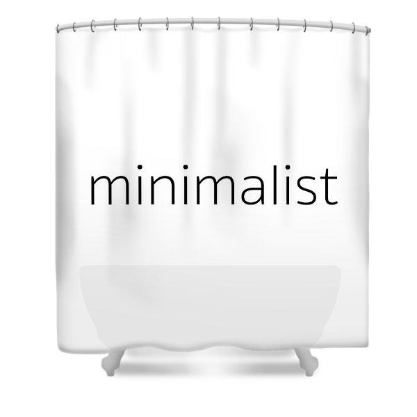 Minimalist Shower Curtain