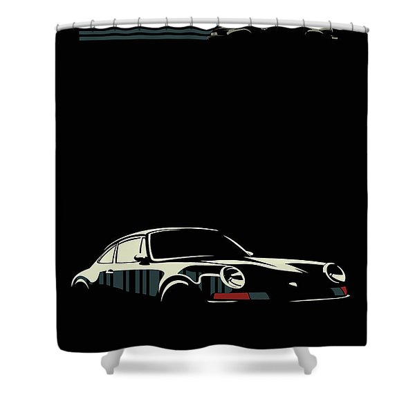 Minimalist Porsche Shower Curtain