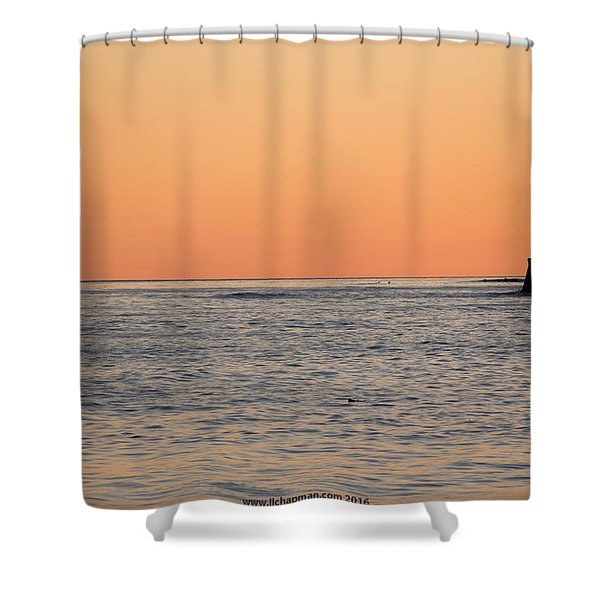 Minimalist Sunset Shower Curtain