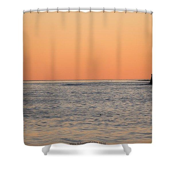 Minimalist Sunset Shower Curtain