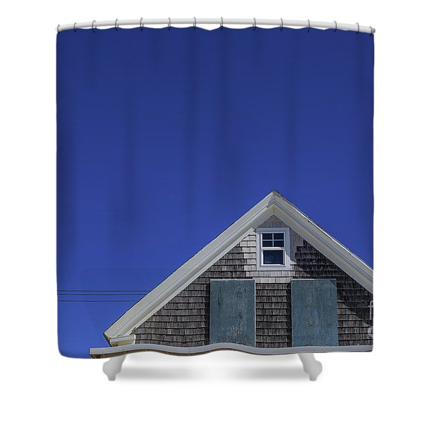 Minimalist View Of A Boarded Up Cottage Shower Curtain