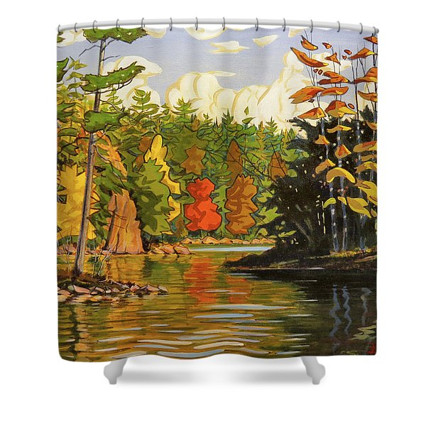Mink Lake Narrows Shower Curtain