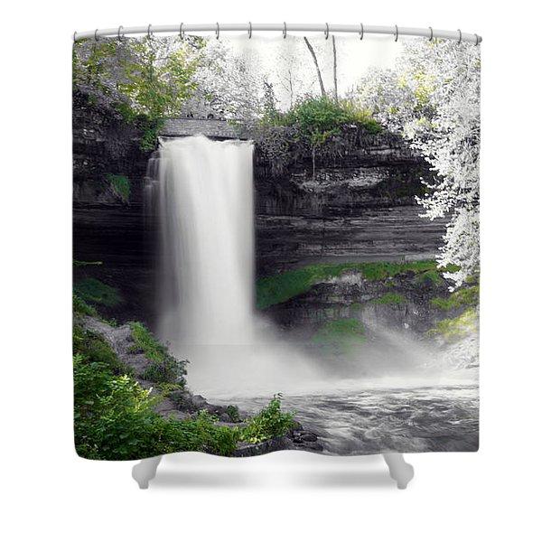 Minne Haha Falls Shower Curtain
