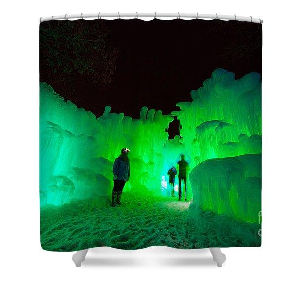Ice Castles Of Minnesota Shower Curtain