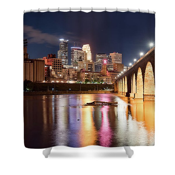 Minneapolis Nights Shower Curtain