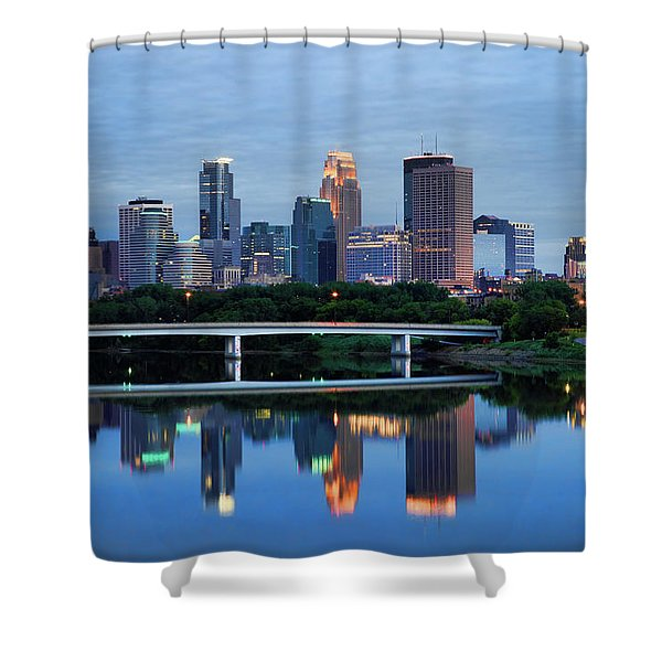 Minneapolis Reflections Shower Curtain