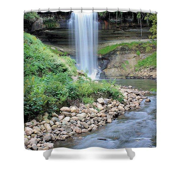 Minnehaha Falls Downstream Shower Curtain