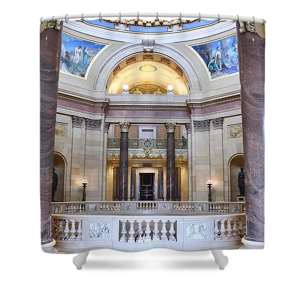Minnesota House Doors Shower Curtain