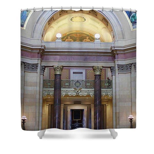 Minnesota House  Shower Curtain