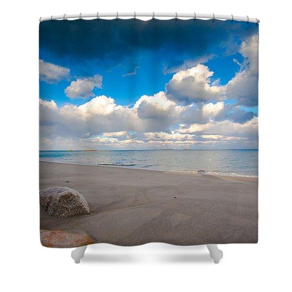 Minot Beach In Scituate Massachusetts  Shower Curtain